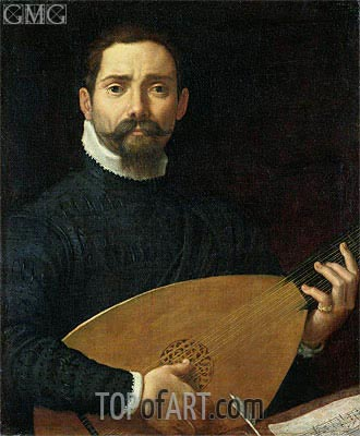 Portrait of a Lute Player, c.1593/94 | Annibale Carracci | Painting Reproduction