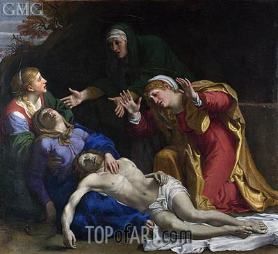 The Dead Christ Mourned (The Three Maries), c.1604 | Annibale Carracci | Gemälde Reproduktion