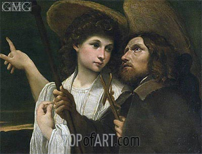 St Roch and the Angel, c.1585/89  | Annibale Carracci | Painting Reproduction