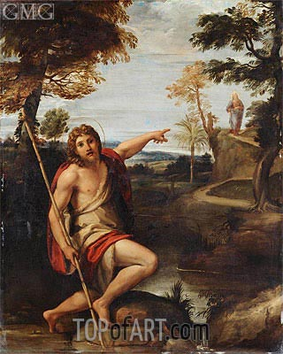 Saint John the Baptist Bearing Witness, undated | Annibale Carracci | Painting Reproduction