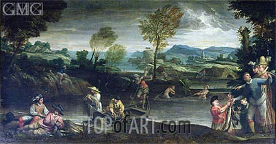 Fishing, c.1585/88 | Annibale Carracci | Painting Reproduction