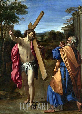 Christ Appearing to Saint Peter on the Appian Way, c.1601/02 | Annibale Carracci | Painting Reproduction