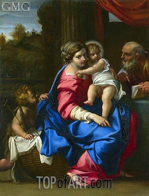 The Holy Family with the Infant Saint John the Baptist, a.1600 | Annibale Carracci | Gemälde Reproduktion