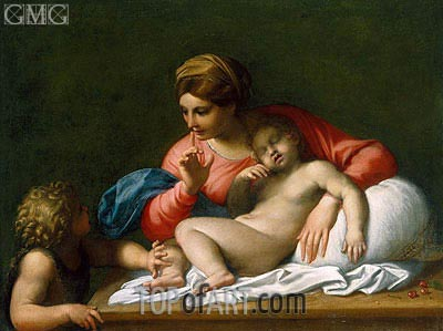 Annibale Carracci | The Madonna and Sleeping Child with the Infant St John the Baptist (Il Silenzio), c.1599/00