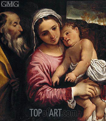 The Holy Family, c.1589 | Annibale Carracci | Gemälde Reproduktion