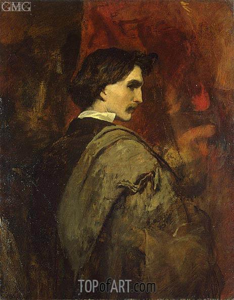 Anselm Feuerbach | Self-Potrait, c.1854/58