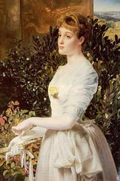 Portrait Of Julia Smith Caldwell, undated by Sandys | Painting Reproduction