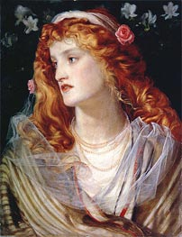 Portrait of a Woman with Red Hair, undated by Sandys | Painting Reproduction