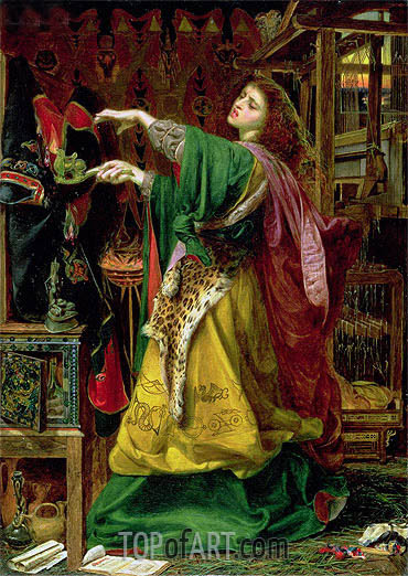 Morgan Le Fay (Queen of Avalon), 1864 | Sandys| Painting Reproduction