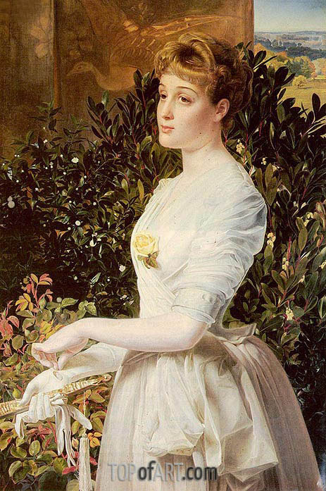 Portrait Of Julia Smith Caldwell, undated | Sandys | Painting Reproduction