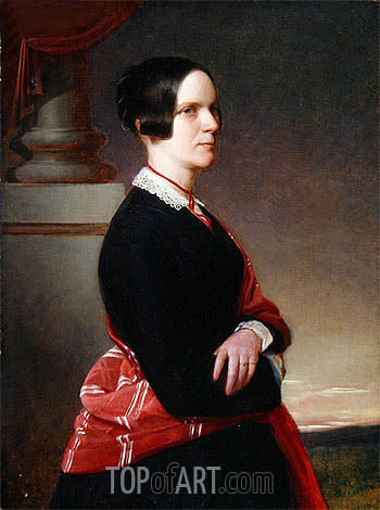 Portrait of Mrs. Sandys, the Artist's Mother, c.1845/50 | Sandys | Painting Reproduction