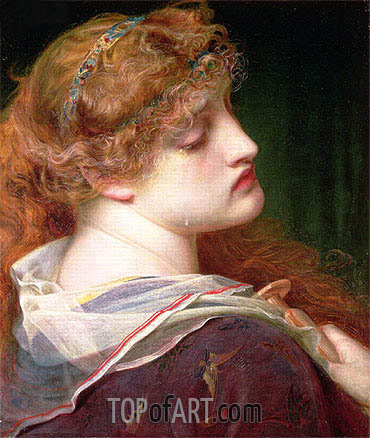 Mary Magdalene, 1862 | Sandys| Painting Reproduction