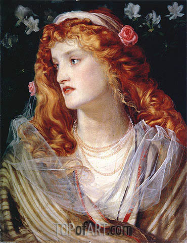 Portrait of a Woman with Red Hair, undated | Sandys | Painting Reproduction