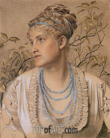 Mary Sandys, c.1871/73 | Sandys | Painting Reproduction