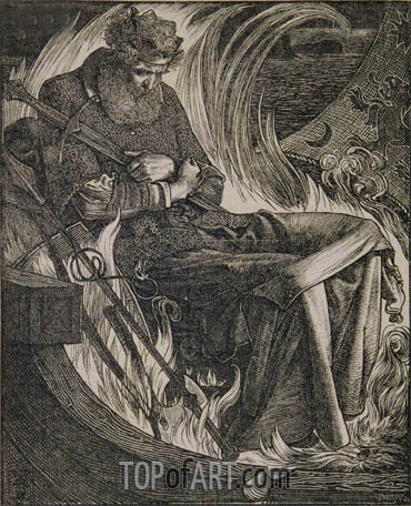Death of King Warwulf, 1862 | Sandys | Gemälde Reproduktion