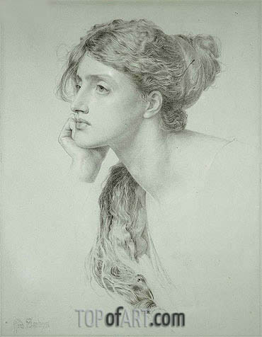 Woman's Head, undated | Sandys | Painting Reproduction