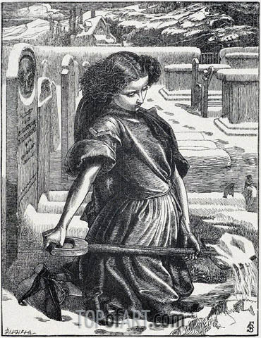 The Little Mourner, 1862 | Sandys | Gemälde Reproduktion