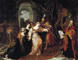 The Swooning of Esther, b.1697 by Antoine Coypel | Painting Reproduction