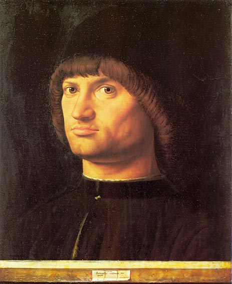 Portrait of a Man (Il Condottiere), 1475 | Antonello da Messina | Gemälde Reproduktion