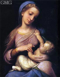 Madonna and Child (Madonna Campori), c.1519 von Correggio | Gemälde-Reproduktion