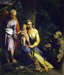 Rest on the Flight into Egypt, c.1520 von Correggio | Gemälde-Reproduktion