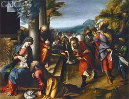 Adoration of the Magi | Correggio | Painting Reproduction