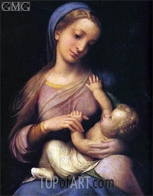 Madonna and Child (Madonna Campori), c.1519 | Correggio | Gemälde Reproduktion