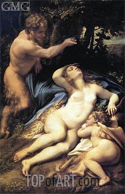 Correggio | Venus, Satyr and Cupid, c.1524/25