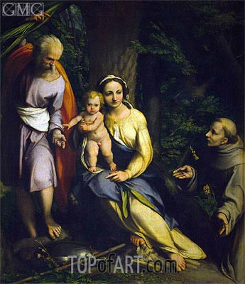 Rest on the Flight into Egypt, c.1520 | Correggio | Painting Reproduction