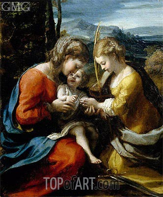 Correggio | Mystic Marriage of Santa Caterina, c.1520