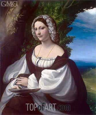 Portrait of a Lady, c.1518 | Correggio | Painting Reproduction