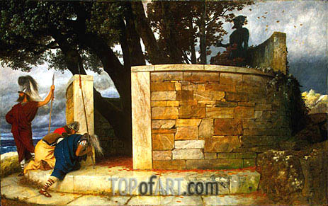 The Sanctuary of Hercules, 1884 | Arnold Bocklin | Painting Reproduction