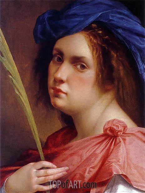 Self-Portrait as a Female Martyr, c.1615 | Artemisia Gentileschi | Gemälde Reproduktion