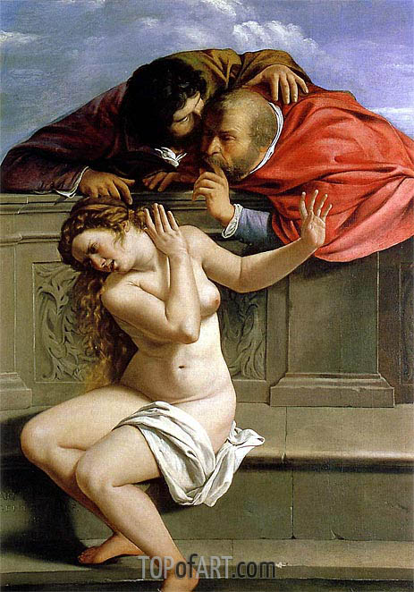 Susanna and the Elders, 1610 | Artemisia Gentileschi | Painting Reproduction