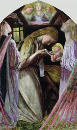 The Nativity, 1858 von Arthur Hughes | Gemälde-Reproduktion
