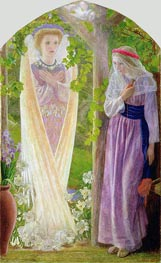 The Annunciation, c.1858 by Arthur Hughes | Painting Reproduction