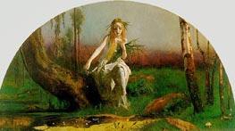 Ophelia | Arthur Hughes | Painting Reproduction