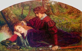 The Brave Geraint (Geraint and Enid), c.1860 by Arthur Hughes | Painting Reproduction
