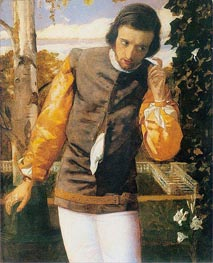 Benedick at the Arbor | Arthur Hughes | Painting Reproduction
