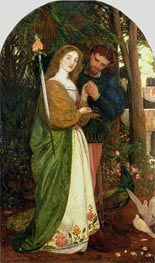 The Guarded Bower, 1866 von Arthur Hughes | Gemälde-Reproduktion