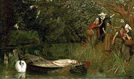 The Lady of Shalott | Arthur Hughes | Painting Reproduction
