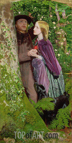 Arthur Hughes | The Long Engagement, 1859