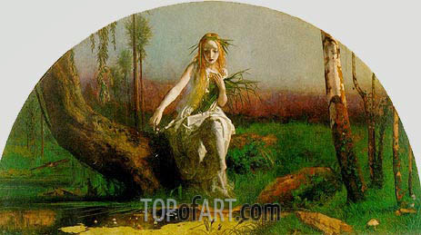 Ophelia, c.1851/53 | Arthur Hughes | Painting Reproduction