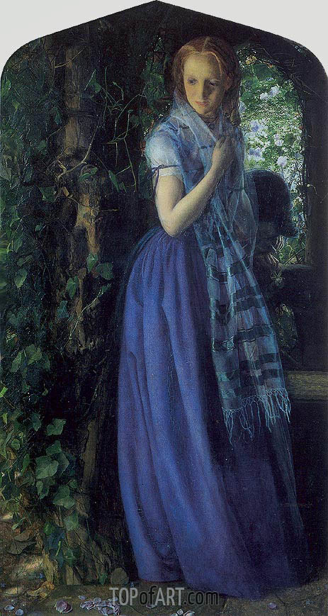 April Love, 1855 | Arthur Hughes| Painting Reproduction