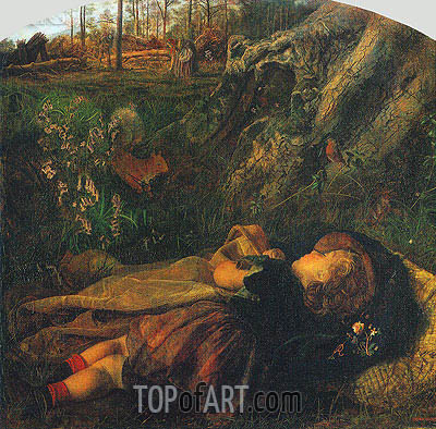 The Woodsman's Child, 1860 | Arthur Hughes | Gemälde Reproduktion