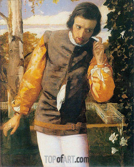Benedick at the Arbor, c.1852/53 | Arthur Hughes | Gemälde Reproduktion