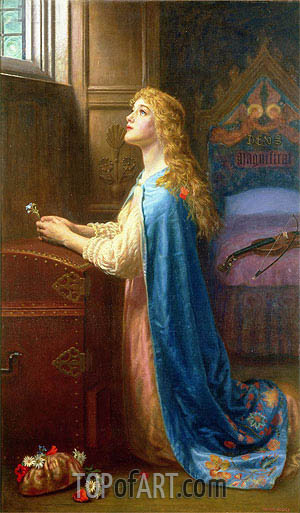 Forget me Not, undated | Arthur Hughes | Gemälde Reproduktion