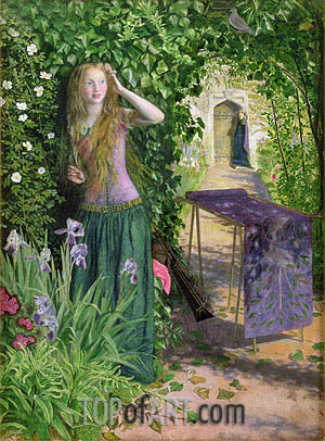 Arthur Hughes | Fair Rosamund, 1854