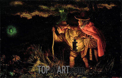 Jack O'Lantern, 1872 | Arthur Hughes| Painting Reproduction