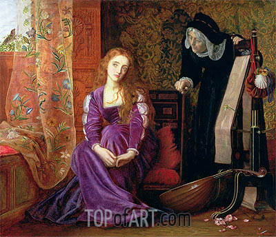 Arthur Hughes | The Pained Heart (Sigh No More, Ladies), 1868